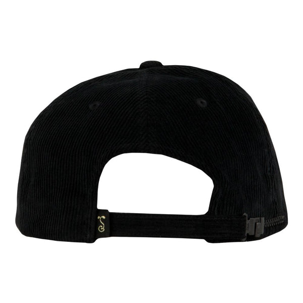 Royal Roots Black Corduroy Zipperback Hat