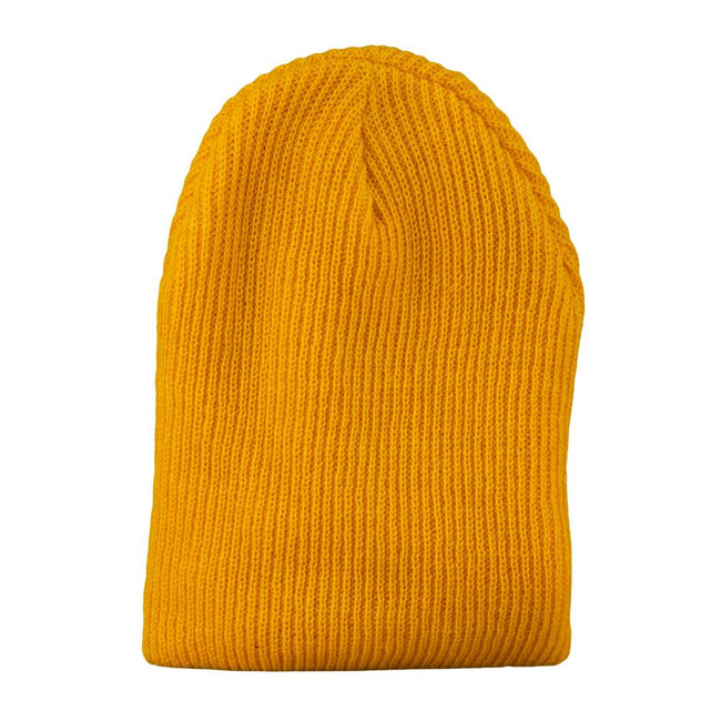 Tangerine Simple Slouch Beanie