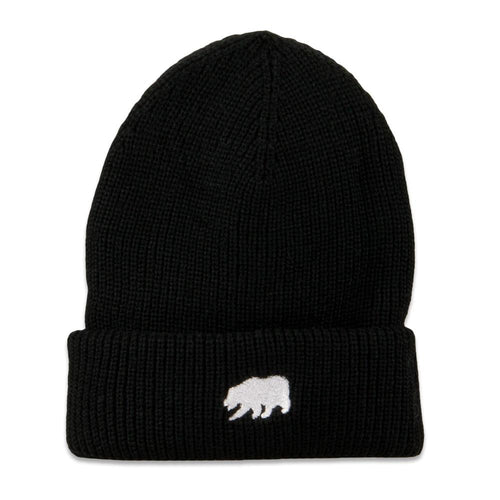 Polar Bear Black Cuff Beanie