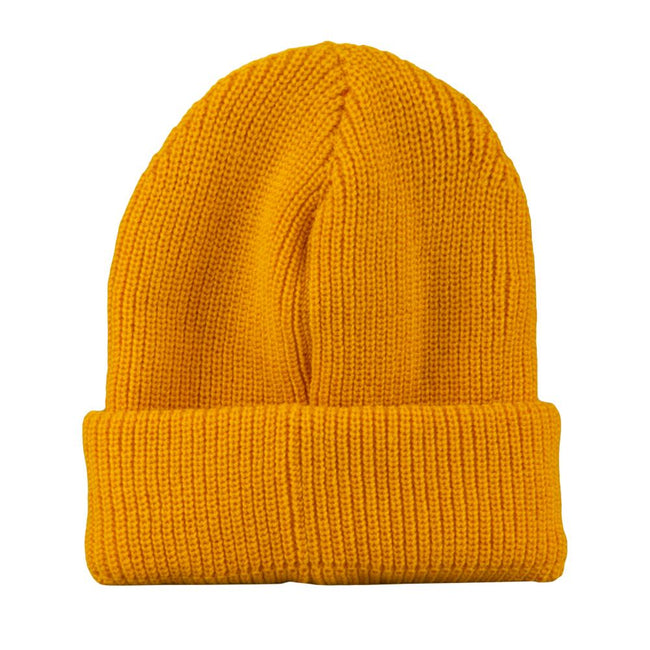 Tangerine Simple Cuff Beanie