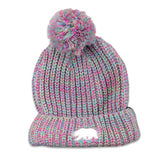 Polar Bear Rainbow Pom Beanie