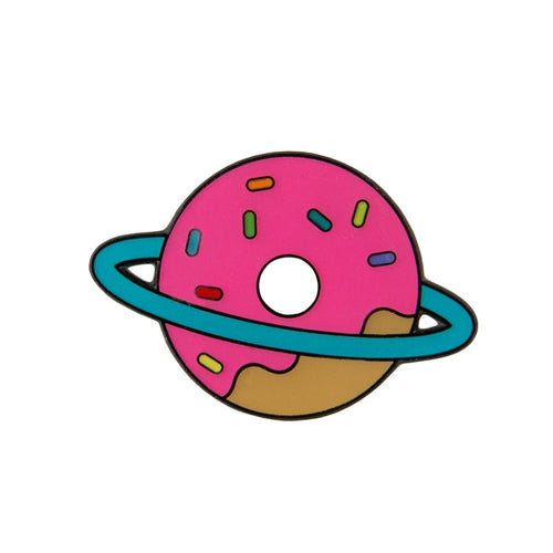 KGB Glass Donut Planet Pink Pin