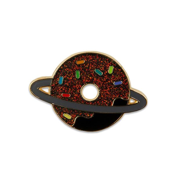 KGB Glass Donut Planet Galaxy Pin