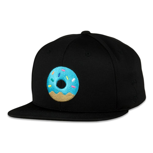 KGB Glass Frosted Donut Dri-Bear Pro Fit Black Snapback Hat