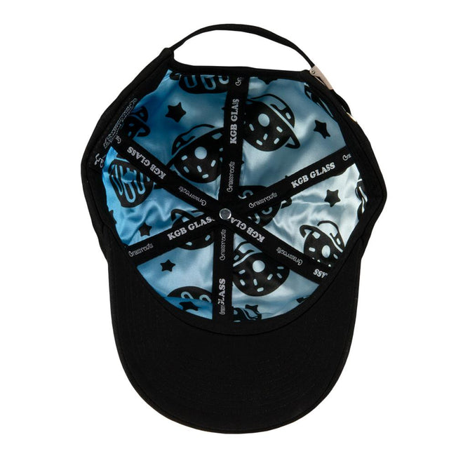 KGB Glass Donut Planet Black Dad Hat