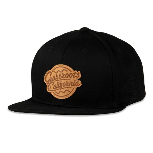 Ripple Badge Black Snapback Hat