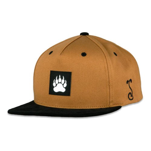 Bear Paw Tan Snapback Hat