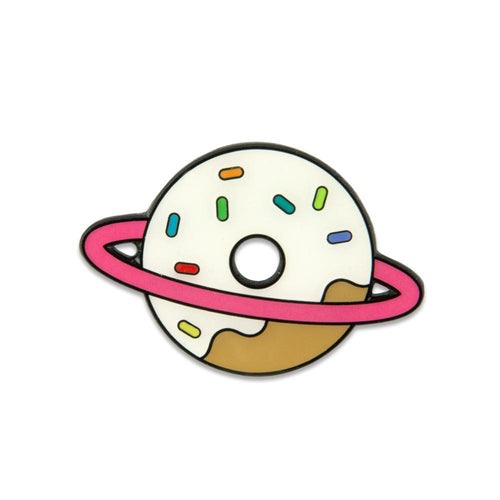 KGB Glass Donut Planet White Pin