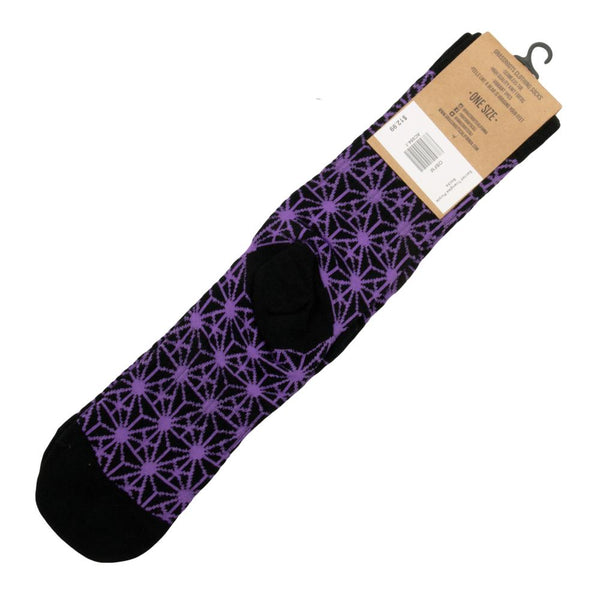 Sacred Triangles Purple Socks