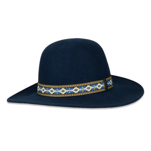 Navy Pattern Aspen Hat
