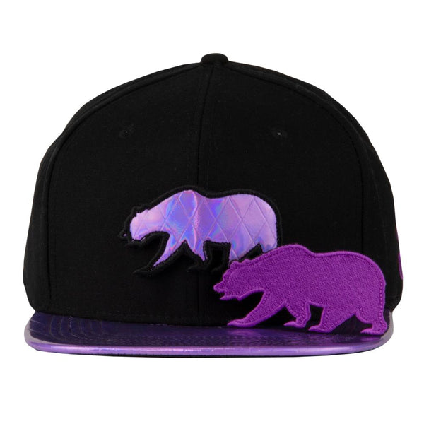Removable Bear Purple Disco Snapback Hat