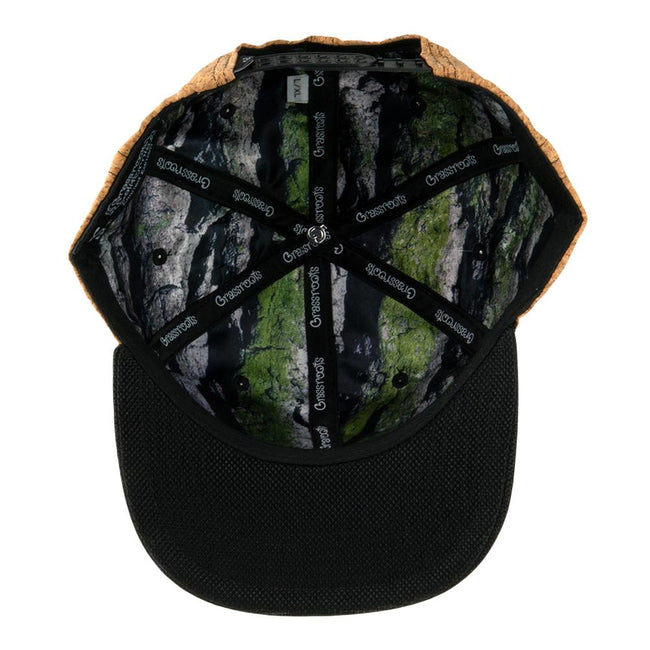 Removable Bear Cork Black Snapback Hat