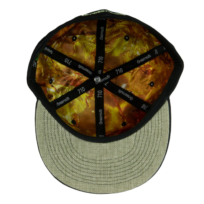 THC Bee Black Glow Fitted Hat