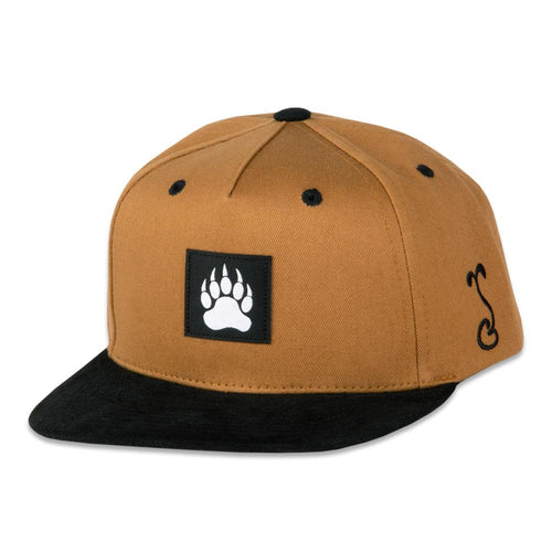 Kids Bear Paw Tan Snapback Hat