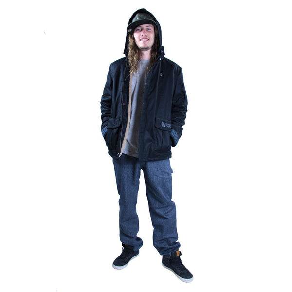 Men's Hemp HoodLamb 2015 Black Jacket - Grassroots California - 1