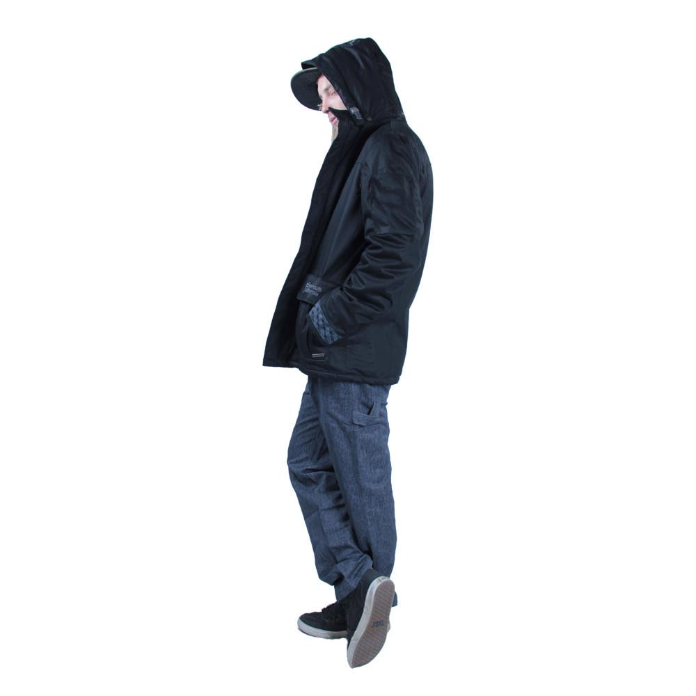 Men's Hemp HoodLamb 2015 Black Jacket - Grassroots California - 3