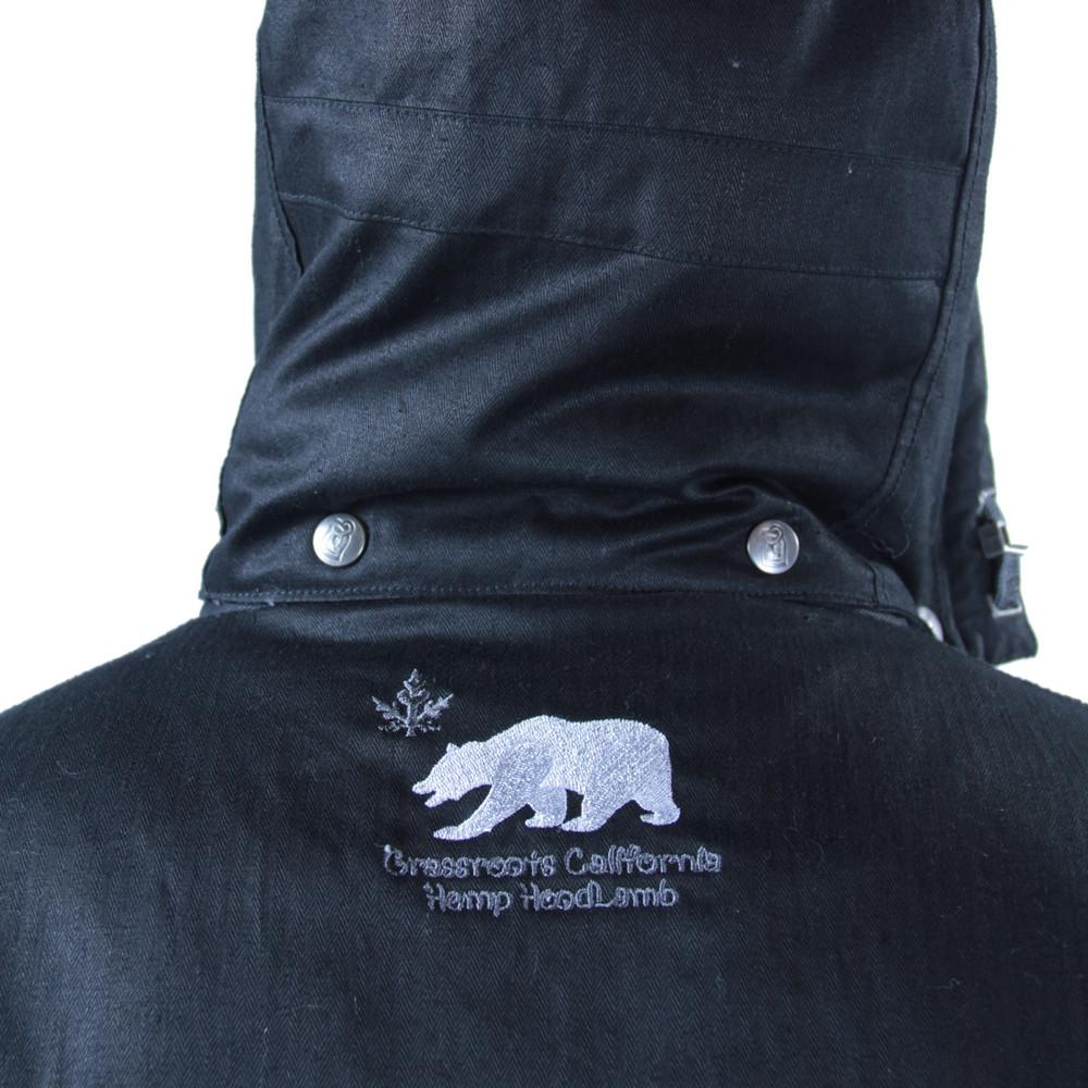 Men's Hemp HoodLamb 2015 Black Jacket - Grassroots California - 7