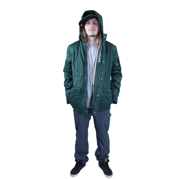 Men's Hemp HoodLamb 2015 Green Jacket - Grassroots California - 1