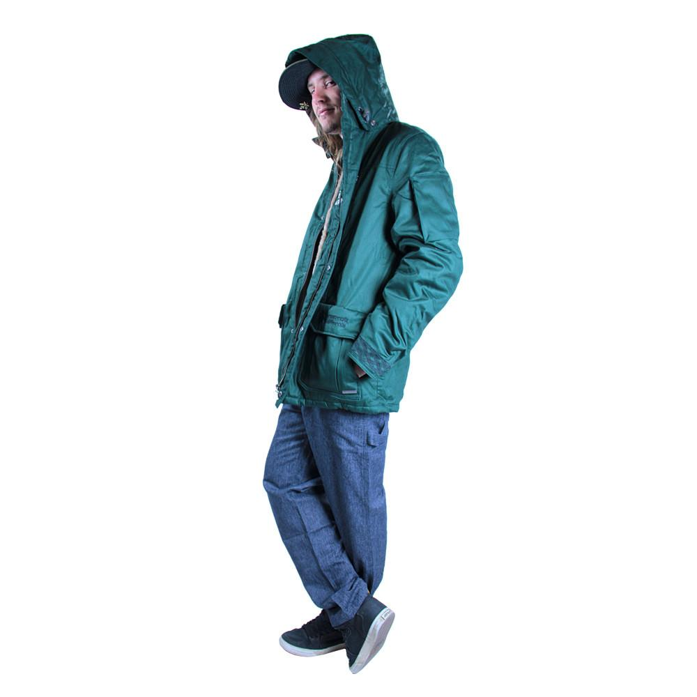 Men's Hemp HoodLamb 2015 Green Jacket - Grassroots California - 3