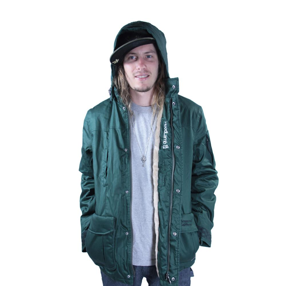 Men's Hemp HoodLamb 2015 Green Jacket - Grassroots California - 2