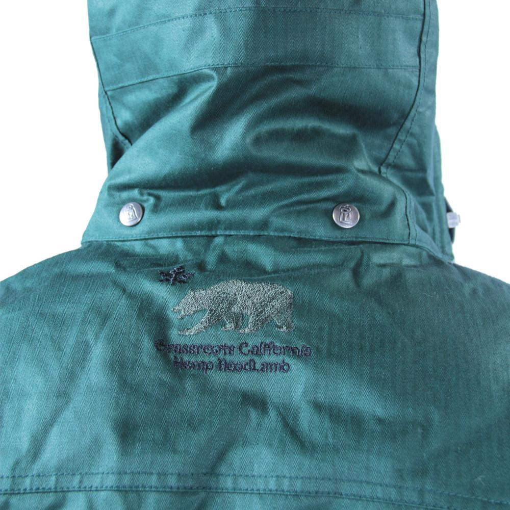 Men's Hemp HoodLamb 2015 Green Jacket - Grassroots California - 7
