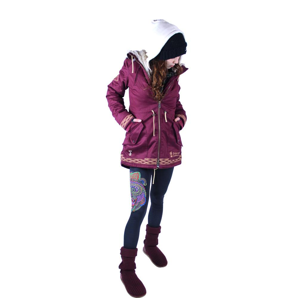 Women's Hemp HoodLamb 2015 Maroon Jacket