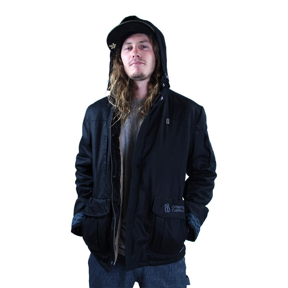Men's Hemp HoodLamb 2015 Black Jacket - Grassroots California - 2