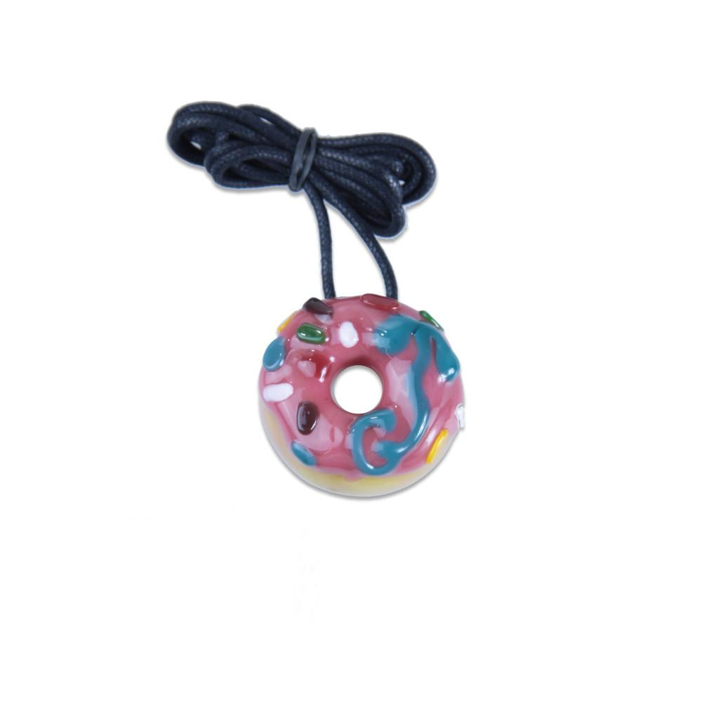 KGB Strawberry with Sprinkles Donut Pendant