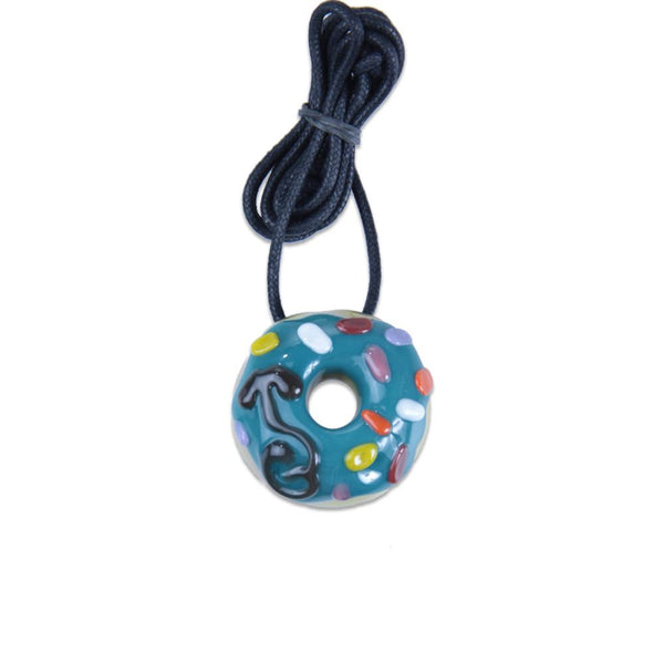 KGB Teal with Sprinkles Donut Pendant - Grassroots California - 1