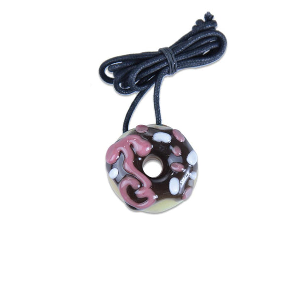 KGB Chocolate with Sprinkles Donut Pendant - Grassroots California - 1