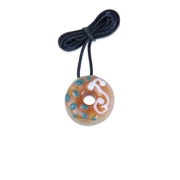 KGB Peach with Sprinkles Donut Pendant - Grassroots California - 1