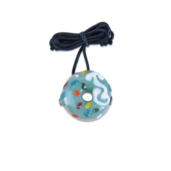 KGB Mint with Sprinkles Donut Pendant - Grassroots California - 1