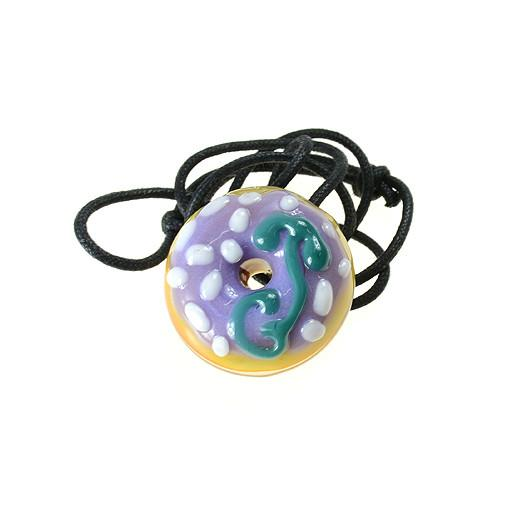 KGB X GRC Purple Frosting White Sprinkles Donut Pendant - Grassroots California