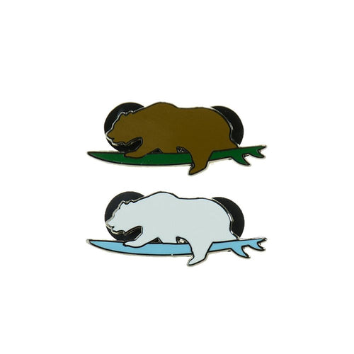 Surfing Bear Pin Combo Pack - Grassroots California - 1