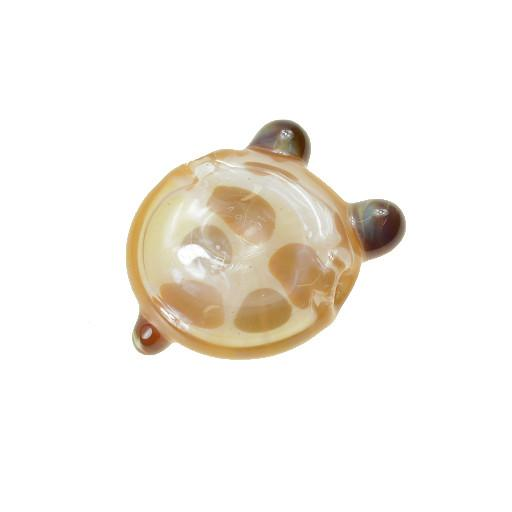 Shurlok Large Peach Bear Face Pendant - Grassroots California - 2