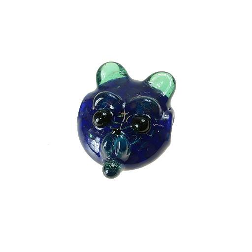 Shurlok Mini Dark Blue Bear Face Pendant - Grassroots California - 1