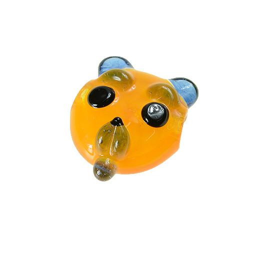 Shurlok Large Yellow Bear Face Pendant - Grassroots California - 1