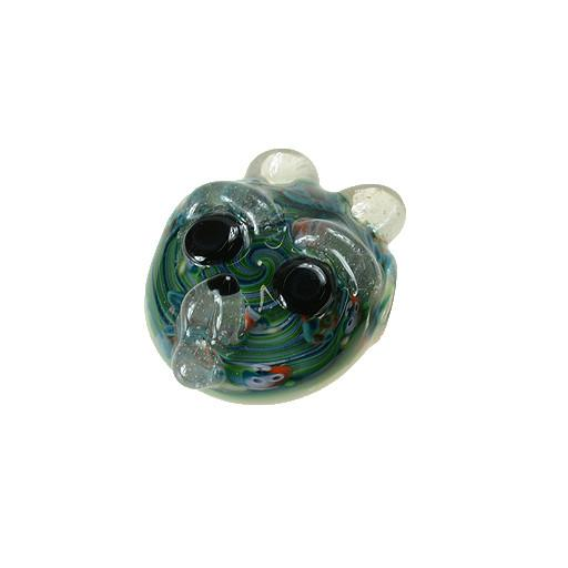 Shurlok Custom Blue Swirl Bear Face Pendant