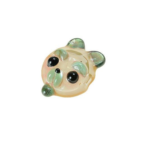 Shurlok Mini Peach Bear Face Pendant - Grassroots California - 1