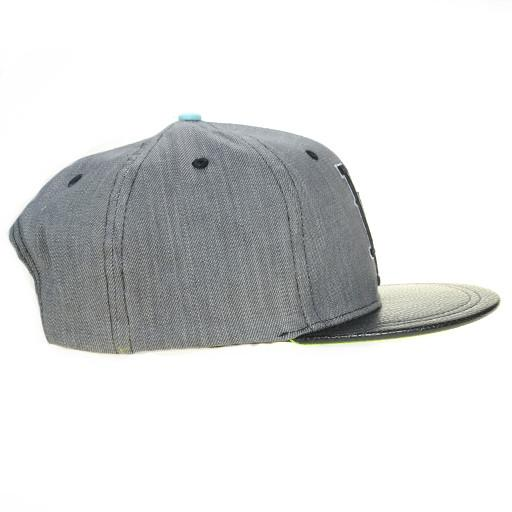 So Gnar LA Denim Leather Snapback - Grassroots California - 2