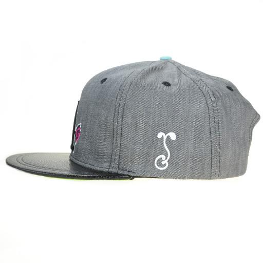 So Gnar LA Denim Leather Snapback - Grassroots California - 3