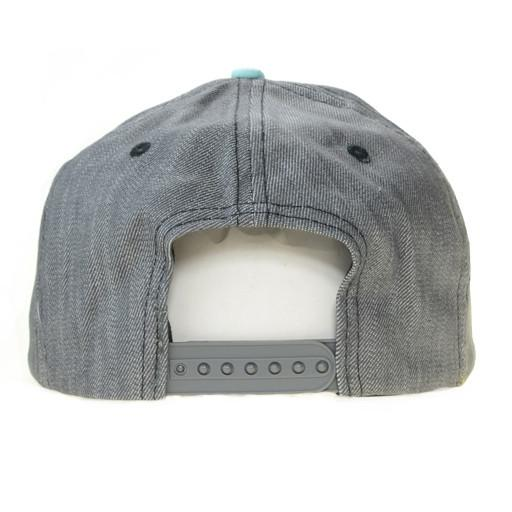 So Gnar LA Denim Leather Snapback - Grassroots California - 4