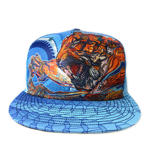 Android Jones Tiger Swallow Tail Snapback - Grassroots California - 1