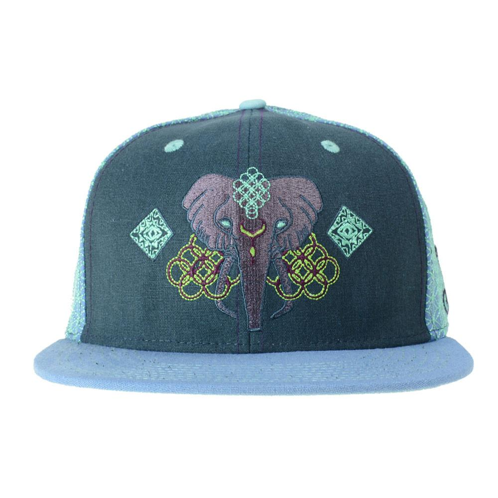 Anna Taylor Elephant Dark Blue Fitted