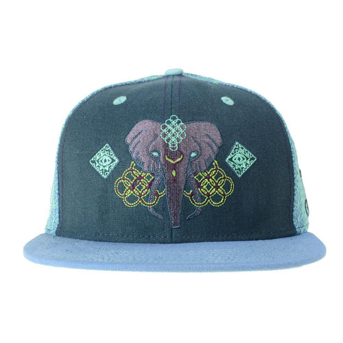 Anna Taylor Elephant Dark Blue Fitted - Grassroots California