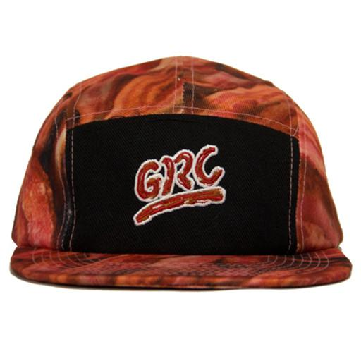 Bacon 5 Panel Black Snapback - Grassroots California