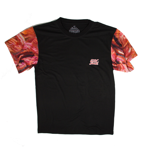 Bacon T-Shirt - Bacon Sleeve Black Shirt - Grassroots California