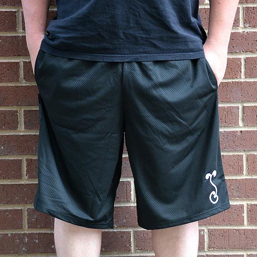 Basic Black Mesh G Sprout Shorts