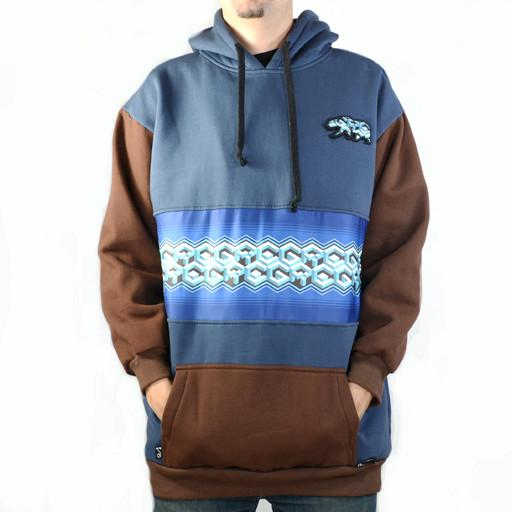 Bear Collection Geometric Blue Tall Pullover Hoodie
