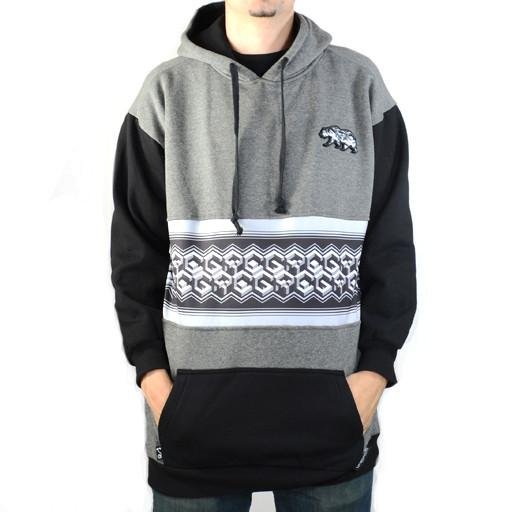 Bear Collection Geometric Gray Tall Pullover Hoodie